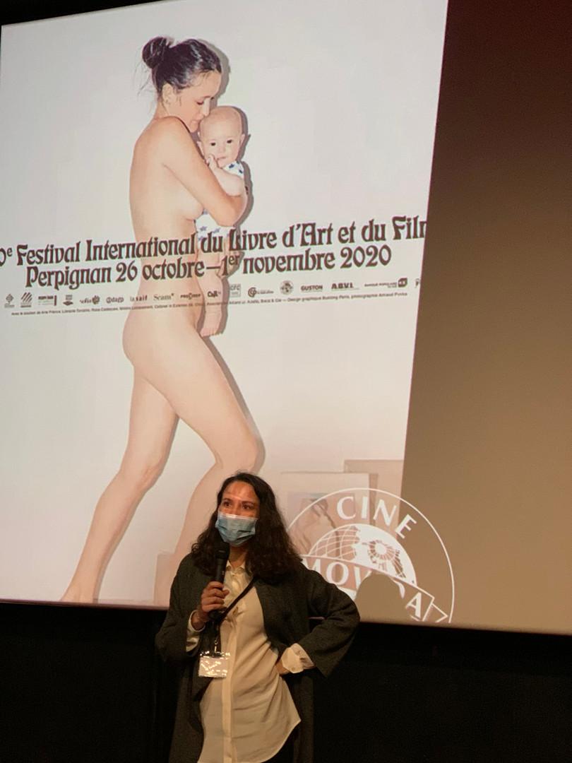 Clio Lavau, présentation d'un film en compétition au Cinéma Castillet