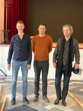 Léopold Rabus, Guillaume Perret et Bertrand Belin lors de leur concert commun au Centro Espagnol en 2020