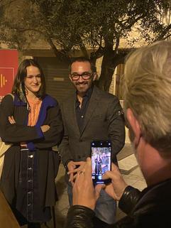 Anne-Lise Voisin, artiste et modèle de l'affiche 2020 et Sébastien Planas, président du festival