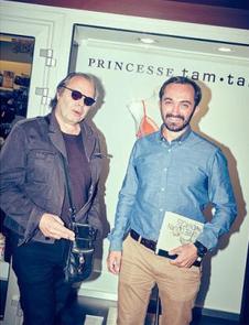 Sébastien Planas, Président du FILAF (à droite), aux côtés de Philippe Djian, auteur et Invité d'Honneur du FILAF 2015.