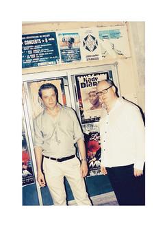 Pierre Thoretton, réalisateur et photographe (à gauche) aux côté de Philippe Régnier, rédacteur en chef du Quotidien de l'Art