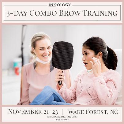November 21-23 Combo Brow Training @ Ink