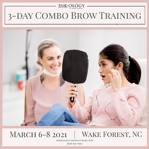6-8 March 2021 3-Day LIVE Combo Brow Training by Inkology