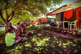 Lodge camping la plage Meyronne