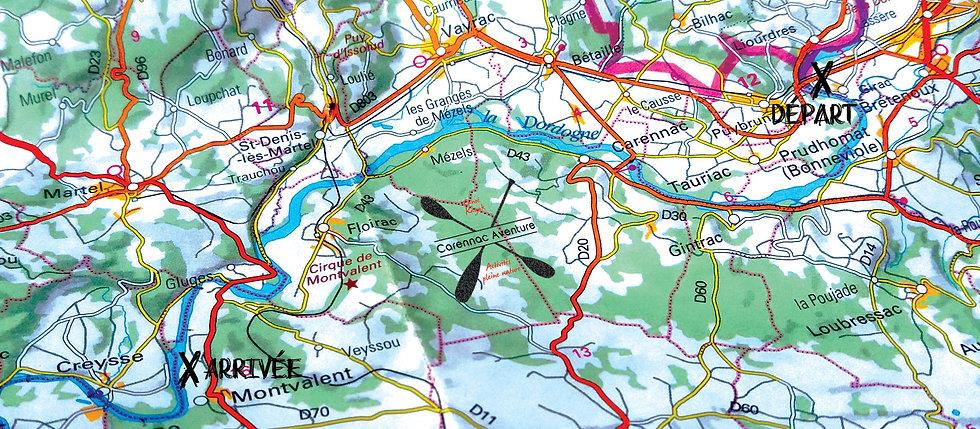 Parcours canoë de 24kms sur la Dordogne Carennac Aventure