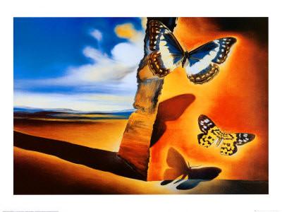 יצירה עם פרפרים - סלבדור דאלי