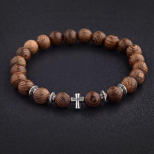 Natural Wood Bead Bracelets