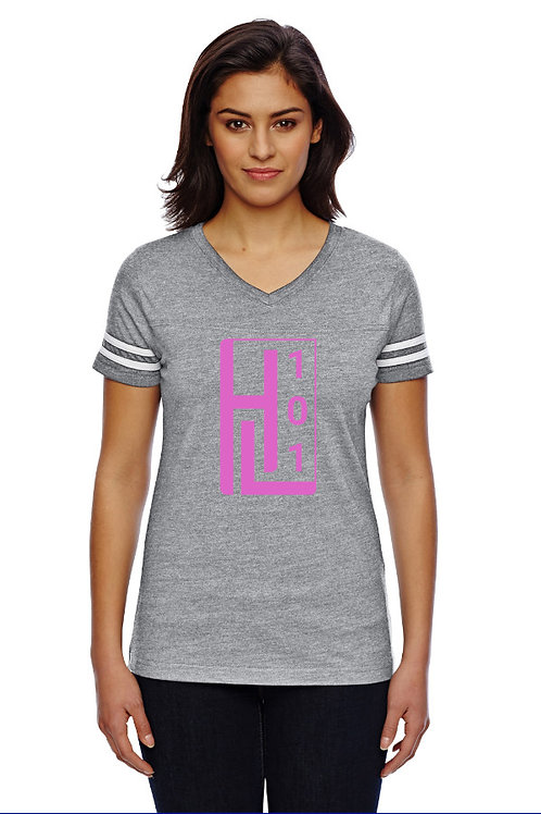 HL 101 - Football V-Neck T-Shirt