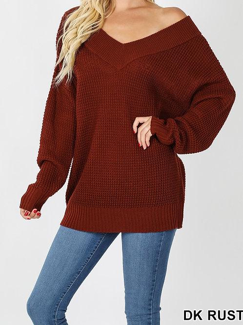 V2 Waffle Sweater