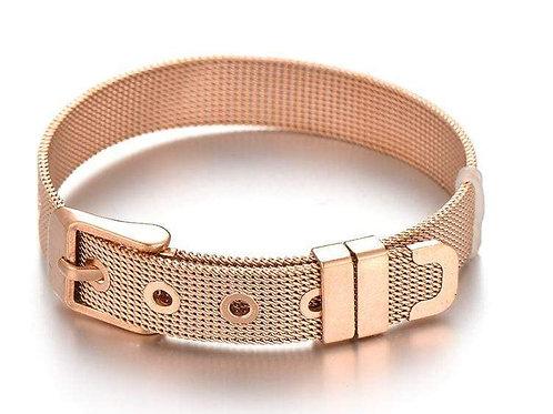 Stainless Steel Slider Bracelet -Rose Gold