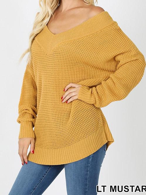 V2 Waffle Sweater-Plus
