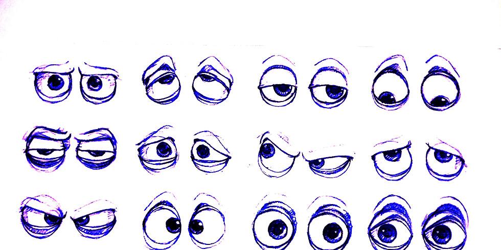 Mini Doodle Cartoon Eyes with Matt