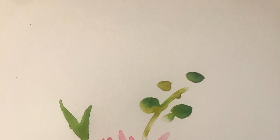 Mini Watercolor Carnation