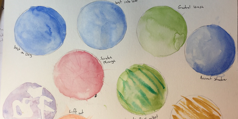 Mini Watercolor Intro with Kirby