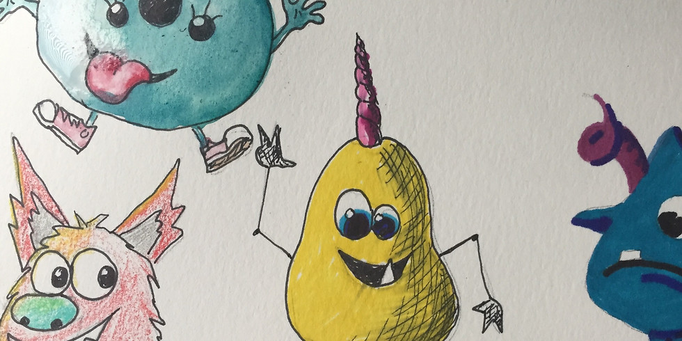Mini Coloring Monsters with Kirby