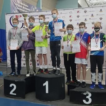 Бадминтонисты Московской области успешно выступили на первенстве России среди спортсменов до 13 лет