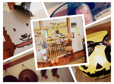 Halloween decoration in Arida school
