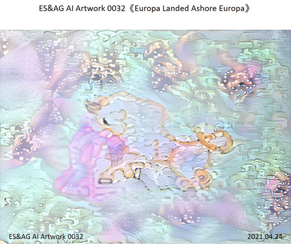 ES&AG AI Artwork 0032《Europa Landed Ashore Europa》   Other