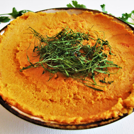 Roasted Carrot & Peanut Hummus