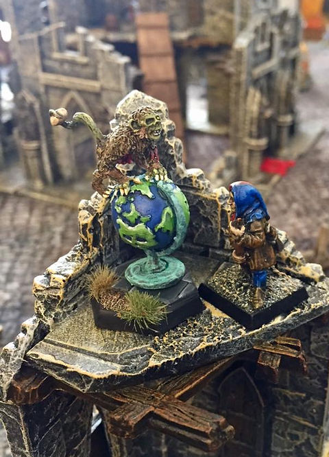 Zombies of Karr-Keel, The Mayor, Lissanne Lake Painting, Upstream Games House