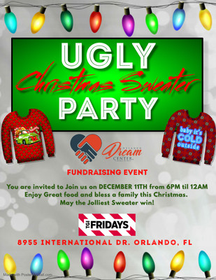 UGLY CHRISTMAS SWEATER Fundraising FLYER