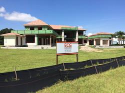 ECG Sign Facing Lakeside Mansion