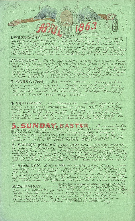 April 1863 Diary