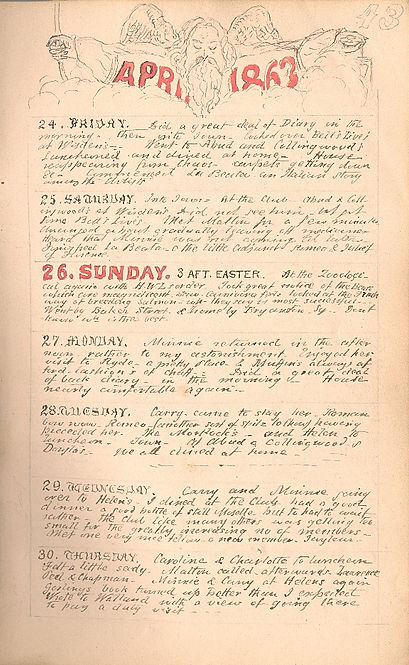 End of April 1863 diary