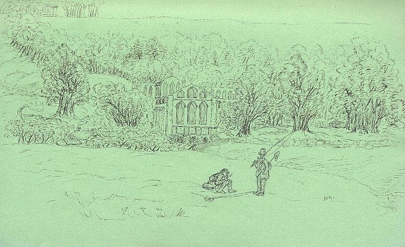 An illustration of Riveaulx Abbey