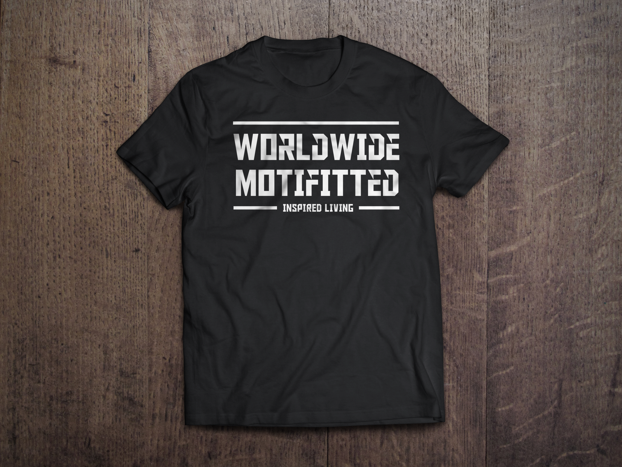 worldwide motifitted tshirt