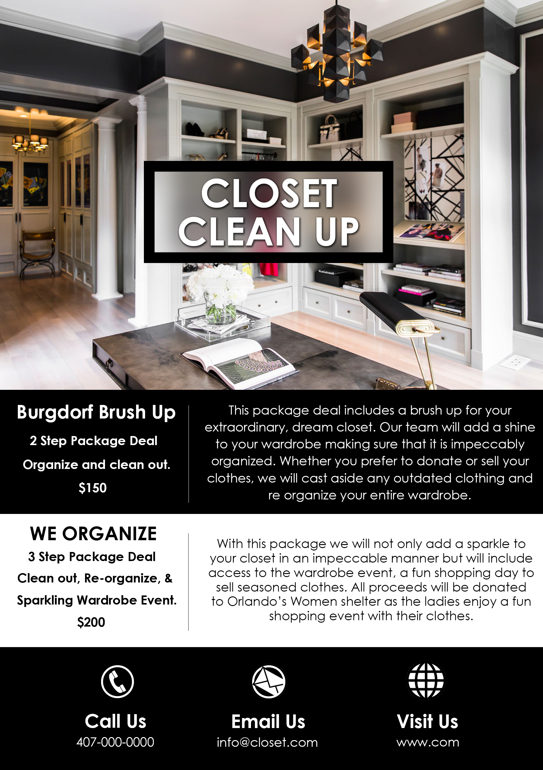 Closet Clean Up Flyer