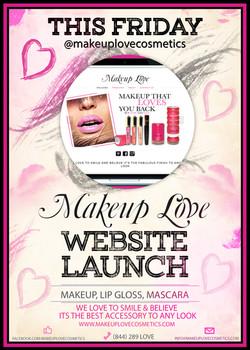 Makeup Love Website Launch Flyer