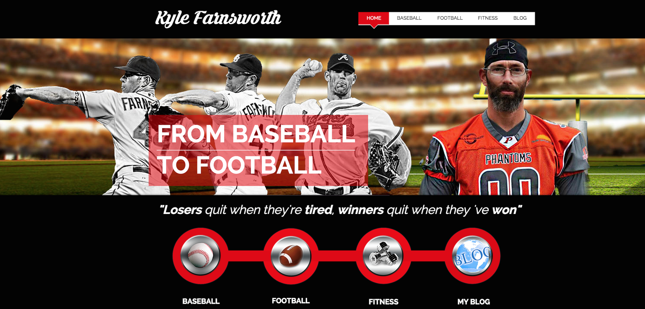 Kyle Farnsworth Homepage Design