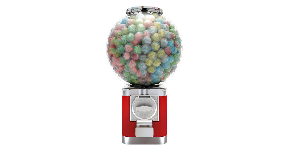 Gumball Machine with Pre-Rolled Tips