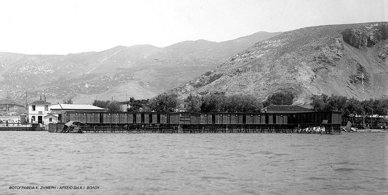 Λουτρά αναύρου περίπου 1930, φωτ. Κ. Ζημερη, Αρχείο ΔΗ.Κ.Ι.