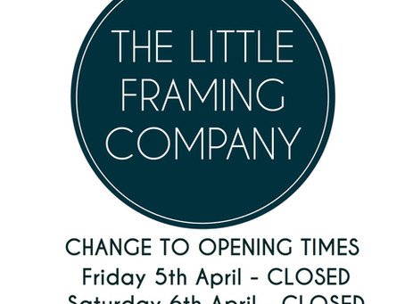 Temporary Change To Opening Hours