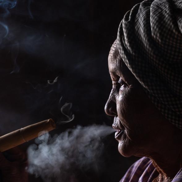 The Smoker, Bagan, Myanmar