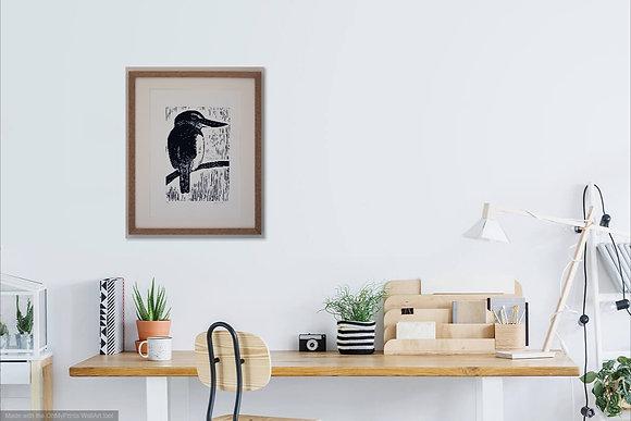 Kotare   Kingfisher (unframed print)