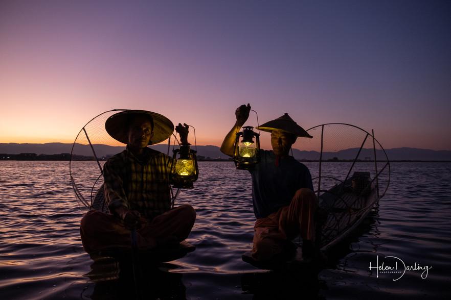 Last light, Lake Inle, Myanmar