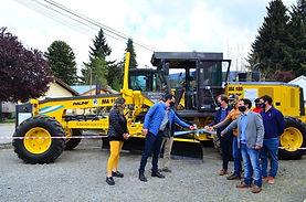 El Bolsón: el municipio sumó una nueva motoniveladora