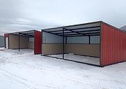loafing shed, livestock shelter