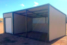 tack room, feed room, livestock shelter, horse shelter, loafing shed