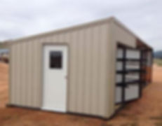 spinning tack wall, shed, feed storage, shelter