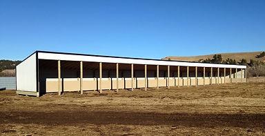 calving barn, shed, livestock shelter, loafing shed