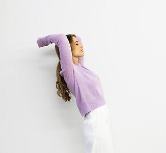 Cashmere Sweater Kaschmir Pullover lila