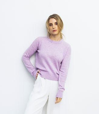 Cashmere Sweater Samira Lila_detail fron