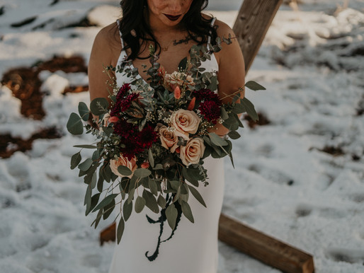 Moody Winter Elopement Styled Shoot