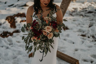 moody forest bridal bouquet