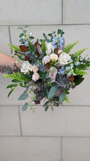Amethyst & Copper Inspired Bridal Bouquet