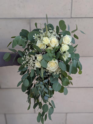 Green and White Draping Bouquet